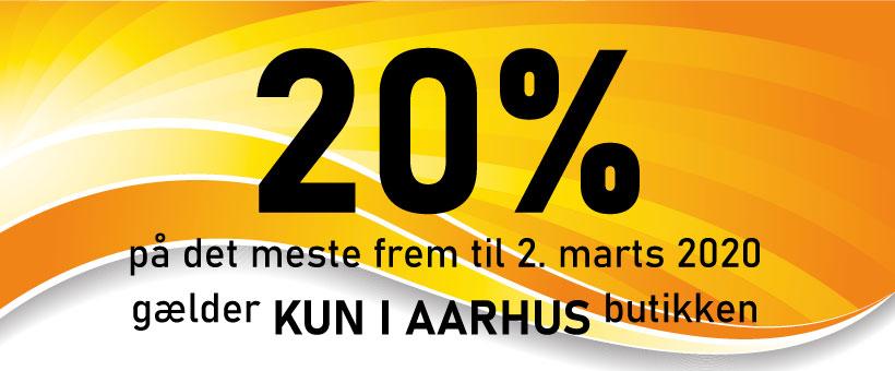 Vi giver 20% rabat i Århus