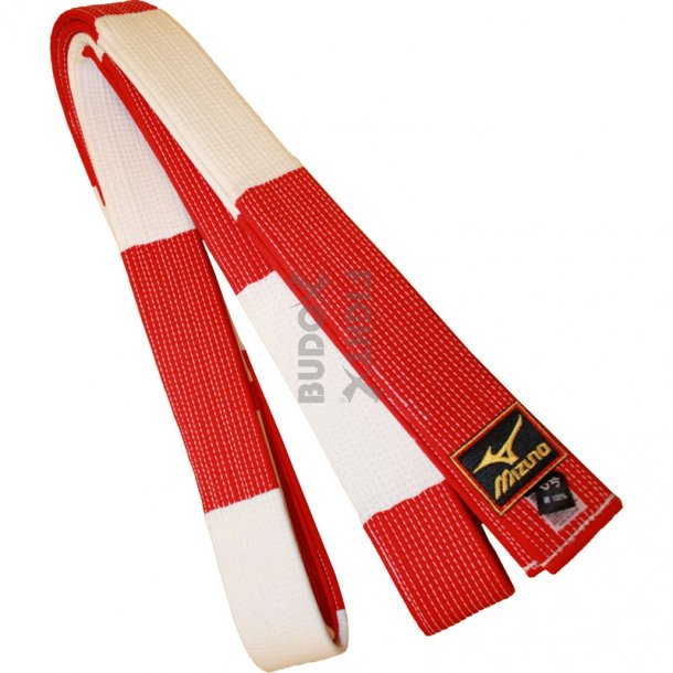 Mizuno masterbælte - rød-hvid