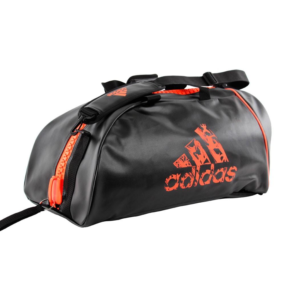 Adidas sportstaske 2 i 1 PU sortorange